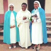 priest with nuns